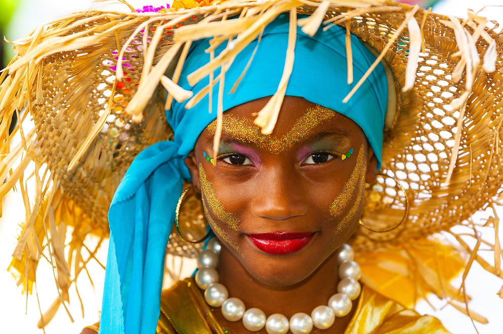Girl in costume at the Children's Carnival, Trinidad Carnival, Port of Spain, Trinidad (Trinidad and Tobago)