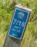 DOMBURG - holebord van de Domburgsche Golf Club in Zeeland (Walcheren) . COPYRIGHT KOEN SUYK