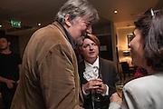 STEPHEN FRY; DEBBIE TOKSVIG; , BULLY BOY by Sandi Toksvig, St. James Theatre, 12 Palace Street, London. 19 September 2012