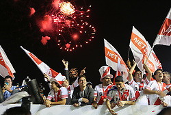 10.12.2014, River Plate Stadium, Buenos Aires, ARG, Südamerika Cup 2014, River Plate vs Atletico Nacional de Medellin, im Bild River Plate players and the coach marcelo Gallardo (down center, on black suit) from argentinian?s football team, celebrates its tryumph // during the 2nd final match of Southamerican Cup between River Plate vs Atletico Nacional and Medellin at the River Plate Stadium in Buenos Aires, Argentina on 2014/12/10. EXPA Pictures © 2014, PhotoCredit: EXPA/ Eibner-Pressefoto/ Cezaro<br /> <br /> *****ATTENTION - OUT of GER*****