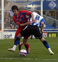 Photo: Matt Bright/Sportsbeat Images.<br /> Crystal Palace v Sheffield Wednesday. Coca Cola Championship. 15/12/2007.<br /> Danny Butterfield of Crystal Palace & Burton O'Brien of Sheffield Wednesday