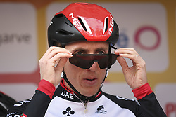 February 14, 2018 - Lagos, Portugal - Daniel Martin of UAE Team Emirates before the 1st stage of the cycling Tour of Algarve between Albufeira and Lagos, on February 14, 2018. (Credit Image: © Str/NurPhoto via ZUMA Press)