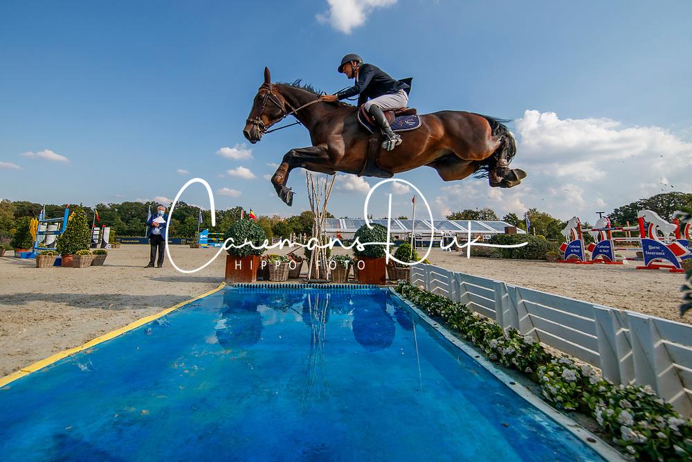 Vermeir Wilm, BEL, IQ van het Steentje<br /> Belgisch Kampioenschap Jumping  <br /> Lanaken 2020<br /> © Hippo Foto - Dirk Caremans<br /> 02/09/2020