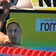 Stephanie Rice, Australia, in action in the Women's 400m IM at the World Swimming Championships in Rome on Sunday, August 02, 2009. Photo Tim Clayton..
