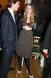 EVA RICE at a party to celebrate the publication of Andrew Robert's new book 'Waterloo: Napoleon's Last Gamble' and the launch of the paperback version of Leonie Fried's book 'Catherine de Medici' held at the English-Speaking Union, Dartmouth House, 37 Charles Street, London W1 on 8th February 2005.<br />