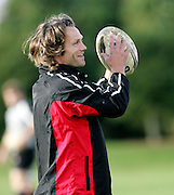 Captain Morgan Williams during the Canada rugby team training session, Auckland, New Zealand on Monday 11 June 2007. Photo: Hagen Hopkins/PHOTOSPORT