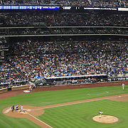 Pitcher Matt Harvey, New York Mets, pitching to a sell out crowd during the New York Mets V Arizona Diamondbacks Major League Baseball game at Citi Field, Queens, New York. USA. 3rd July 2013. Photo Tim Clayton