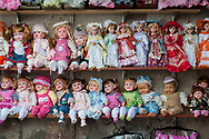 Dolls for sale in the Old City of Damascus, Syria<br /><br />(June 6, 2010)
