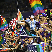 ORLANDO, FL - JUNE 18:  Supporters yell to the referee after a play during an MLS soccer match between the San Jose Earthquakes and the Orlando City SC at Camping World Stadium on June 18, 2016 in Orlando, Florida. (Photo by Alex Menendez/Getty Images) *** Local Caption ***