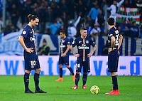Deception PSG - Zlatan IBRAHIMOVIC - 05.04.2015 - Marseille / Paris Saint Germain - 31eme journee de Ligue 1<br />Photo : Dave Winter / Icon Sport