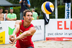 Rok Zlajpah of Mivka Mokronog during Qlandia Beach Challenge 2015 and Beach Volleyball Slovenian National Championship 2015, on July 25, 2015 in Kranj, Slovenia. Photo by Ziga Zupan / Sportida