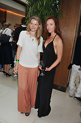 Left to right, AMBER ATHERTON and OLIVIA GRANT at the Veuve Clicquot Mint Polo in The Park after party held at The Hurlingham Club, Ranelagh Gardens, London SW6 on 5th June 2011.