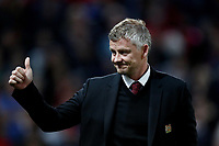 Football - 2019 / 2020 UEFA Europa League - Group L: Manchester United vs. FC Astana<br /> <br /> Manchester United manager Ole Gunnar Solskjaer gives a thumbs up, at Old Trafford.