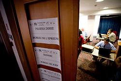 Race office at day before start of Tour de Slovenie 2009, on June 17 2009, in Koper, Slovenia. (Photo by Vid Ponikvar / Sportida)