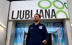 England interim manager Gareth Southgate takes questions arrives at SRC Stozice for the World Cup Qualifier against Slovenia - Mandatory by-line: Robbie Stephenson/JMP - 10/10/2016 - FOOTBALL - SRC Stozice - Ljubljana, England - England Press Conference