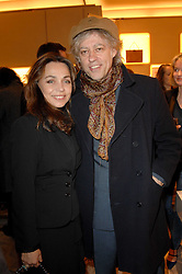 SIR BOB GELDOF and JEANNE MARINE at a party to celebrate the publication of 'Parisian Chic: A Style guide' by Ines de La Fressange held at Roger Vivier, Sloane Street, London on 5th Apreil 2011.