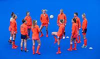 MONCHENGLADBACH  -  Warming up Oranje. Pro League  Duitsland-Nederland (0-1) dames .   COPYRIGHT KOEN SUYK