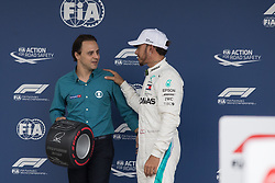 November 10, 2018 - Sao Paulo, Sao Paulo, Brazil - Former Brazilian F1 driver FELIPE MASSA (L) and LEWIS HAMILTON,  after the qualifying session to the Formula One GP Brazil 2018 at Interlagos circuit, in Sao Paulo, Brazil. The grand prix will be celebrated next Sunday, November 11. (Credit Image: © Paulo LopesZUMA Wire)