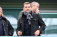 Chelsea legend Andriy Shevchenko in the stands. Premier league match, Chelsea v Arsenal at Stamford Bridge in London on Saturday 4th February 2017.<br /> pic by John Patrick Fletcher, Andrew Orchard sports photography.