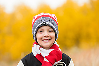 The light was perfect for this beautiful outdoor fall children's portrait session on a beautiful Calgary autumn day.<br /> <br /> ©2018, Sean Phillips<br /> http://www.RiverwoodPhotography.com
