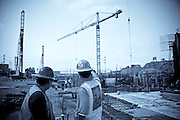 Construction Men And Equipment