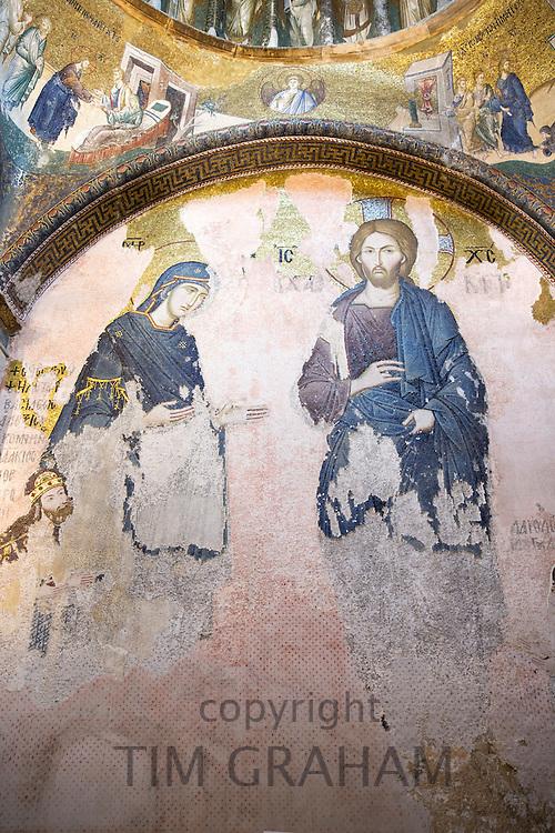Church of St Saviour in Chora, Kariye Museum St Savior mosaic of Virgin Mary with The Chalkite Christ, Istanbul, Turkey Republic