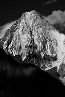 Gasherbrum IV from Concordia, Pakistan - Monochrome