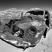 Rusted Out Abandoned 1940s Car - Death Valley, CA - Infrared Black & White