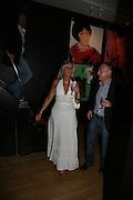 Mrs. Gabriella Heindling and Manuel Ruiz Quesada, The Athlete series by Andy Warhol. Martin Summers Fine Art Ltd. Studio 54. Glebe Place. London. 23 May 2007.   -DO NOT ARCHIVE-© Copyright Photograph by Dafydd Jones. 248 Clapham Rd. London SW9 0PZ. Tel 0207 820 0771. www.dafjones.com.