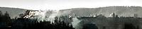 30.12.2015 Krynki woj podlaskie N/z zadymienie miasteczka spowodowane przez masowe uzywanie piecow opalanych drewnem i weglem fot Michal Kosc / AGENCJA WSCHOD