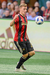 October 21, 2018 - Atlanta, GA, U.S. - ATLANTA, GA Ð OCTOBER 21:  Atlanta's Julian Gressel (24) looks to settle the ball during the match between Atlanta United and the Chicago Fire on October 21st, 2018 at Mercedes-Benz Stadium in Atlanta, GA.  Atlanta United FC defeated the Chicago Fire by a score of 2 to 1.  (Photo by Rich von Biberstein/Icon Sportswire) (Credit Image: © Rich Von Biberstein/Icon SMI via ZUMA Press)
