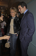 Lady Alexandra Spencer-Churchill and David Peacock. Tom Parker Bowles, Susan Hill and Matthew Rice host party to launch 'E is For Eating' Kensington Place. 3 November 2004.  ONE TIME USE ONLY - DO NOT ARCHIVE  © Copyright Photograph by Dafydd Jones 66 Stockwell Park Rd. London SW9 0DA Tel 020 7733 0108 www.dafjones.com