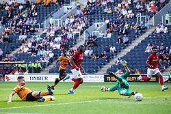 Reece Burke of Hull City scores an own goal to make it 2-1 - Mandatory by-line: Robbie Stephenson/JMP - 24/08/2019 - FOOTBALL - KCOM Stadium - Hull, England - Hull City v Bristol City - Sky Bet Championship