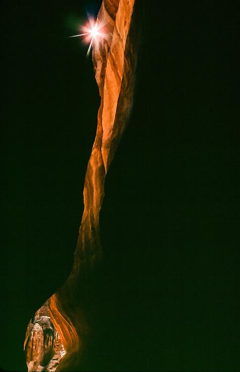 Slot canyon, Arches National Park, Utah, USA