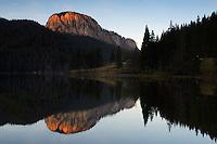 Red Lake and Suhardul Mara-massif 1.507 m , Cheile Bicazului-Hasmas National Park, Carpathians, Transylvania, Romania,