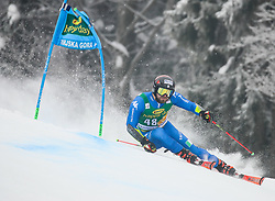 Simon Maurberger of Italy competes during 1st run of Men's GiantSlalom race of FIS Alpine Ski World Cup 57th Vitranc Cup 2018, on March 3, 2018 in Kranjska Gora, Slovenia. Photo by Ziga Zupan / Sportida