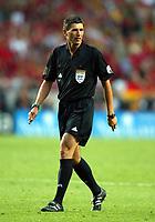 Lisboa / Lisbona 4/7/2004 <br />Campionati Europei - European Championships 2004 - final / Finale <br />Portogallo Grecia 0-1 <br />The referee Markus Meier<br />Photo Graffiti