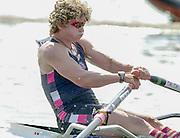 Henley. England. Guin BATTEN, 2000 Sydney Silver Medallist, competing at Women's Henley regatta in the single  for Thames Rowing Club. 2001 Henley Women's Henley  Regatta, Henley Reach. United Kingdom. [Mandatory Credit: Peter Spurrier / Intersport Images] 20010623 Women's Henley Regatta.