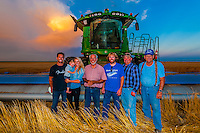 The Schields, a farm family in Goodland, Kansas USA, during the wheat harvest. They also farm corn and sunflowers.