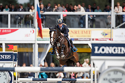 Hoogenraat Kim, (BEL), Rubio Monocoat Electric<br /> Final 6 years old horses<br /> FEI World Breeding Jumping Championship <br /> Lanaken - Zangersheide 2015<br /> © Hippo Foto - Dirk Caremans<br /> 20/09/15