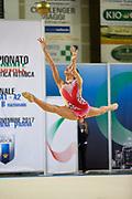 Benedetta Schifano from Iris team during the Italian Rhythmic Gymnastics Championship in Padova, 25 November 2017.