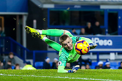 Jordan Pickford of Everton dives for the ball - Mandatory by-line: Robbie Stephenson/JMP - 23/12/2018 - FOOTBALL - Goodison Park - Liverpool, England - Everton v Tottenham Hotspur - Premier League