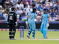 Cricket - 2019 ICC Cricket World Cup - Group Stage: England vs. NZ<br /> <br /> Joe Root of England Celebrates after hitting for 4 from Mitchell Satner of New Zealand, at the Riverside, Chester-le-Street, Durham.<br /> <br /> COLORSPORT/BRUCE WHITE