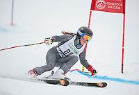 Francis Piche Giant Slalom Ladies U12 on Tiger Saturday, March 14, 2015.   ©2015 Karen Bobotas Photographer
