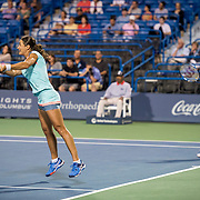 August 24, 2016, New Haven, Connecticut: <br /> Sania Mirza of India and Monica Niculescu of Romania in action during Day 6 of the 2016 Connecticut Open at the Yale University Tennis Center on Wednesday, August  24, 2016 in New Haven, Connecticut. <br /> (Photo by Billie Weiss/Connecticut Open)
