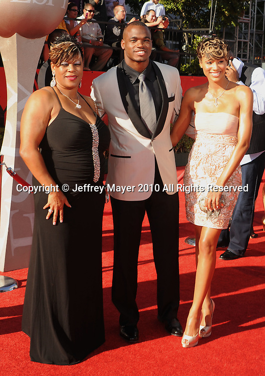 LOS ANGELES, CA. - July 14:  arrives at the 2010 ESPY Awards at Nokia Theatre L.A. Live on July 14, 2010 in Los Angeles, California.