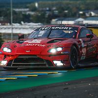 #90, Aston Martin Vantage AMR, T Sport, drivers: S. Yoluc, C. Eastowood, J. Adam, at Le Mans 24H, GTE Am, 20/09/2020