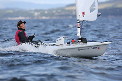 Day 4 NeilPryde Laser National Championships 2014 held at Largs Sailing Club, Scotland from the 10th-17th August.<br /> <br /> 201581, Abbie BACK<br /> <br /> Image Credit Marc Turner