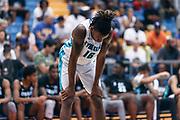 THOUSAND OAKS, CA Sunday, August 12, 2018 - Nike Basketball Academy. CJ Walker 2019 #16 of Orlando Christian Prep rests. <br /> NOTE TO USER: Mandatory Copyright Notice: Photo by John Lopez / Nike