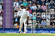 Ravichandran Ashwin of India bowling during the first day of the 4th SpecSavers International Test Match 2018 match between England and India at the Ageas Bowl, Southampton, United Kingdom on 30 August 2018.